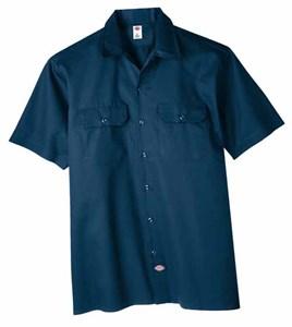 Dickies Short Sleeve Twill Shirt in Navy