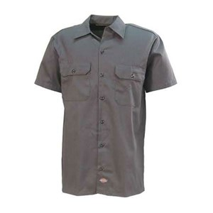 Dickies Short Sleeve Twill Shirt in Charcoal