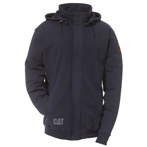 CAT FR Full Zip Sweatshirt with Removable Hood
