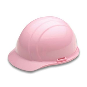 Americana Hard Hat, 4 pt. Suspension with Slide Lock in Pink