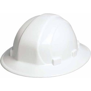 Omega II Full Brim Hard Hat, 6 pt. ratchet