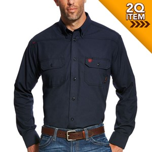 Ariat FR Featherlight Work Shirt in Navy