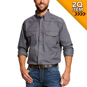 Ariat FR Featherlight Work Shirt in Grey