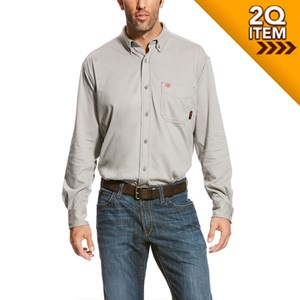 f3853abb Ariat FR AC Work Shirt in Silver Fox