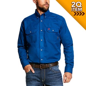 Ariat FR Featherlight Work Shirt in Royal Blue