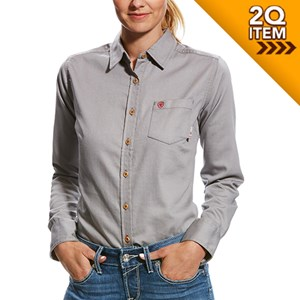 Women's FR Basic Work Shirt in Silver Fox