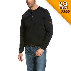 Ariat FR Henley Top in Black