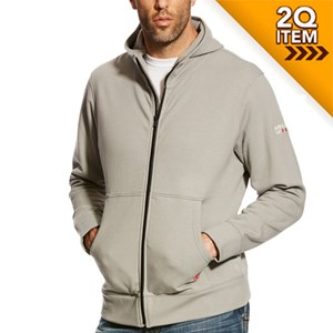 Ariat FR Full Zip Hoodie in Silver Fox