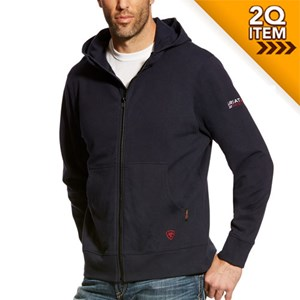 Ariat FR Full Zip Hoodie in Navy