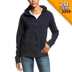 Ariat Women's FR Full Zip Hoodie in Navy
