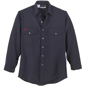 Western-Style Nomex FR Work Shirt in Navy