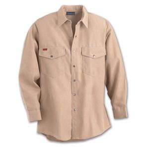 Western-Style Nomex FR Work Shirt in Khaki