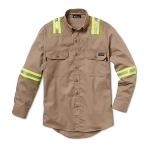 7 oz. UltraSoft Dress Shirt with Reflective Tape - MD and XL ONLY
