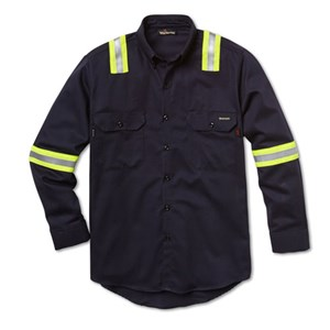 7 oz. UltraSoft Dress Shirt with Reflective Tape