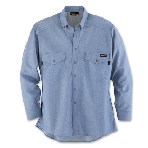 Workrite chambray fr utility shirt for Cuisine you chambray