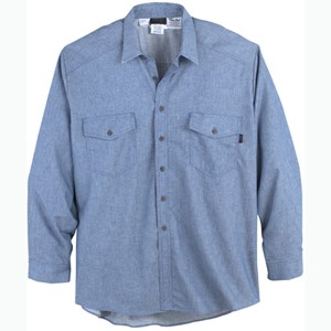 Flame Resistant Chambray Utility Shirt