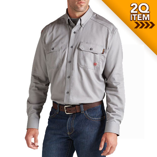 Ariat FR Solid Work Shirt in Silver
