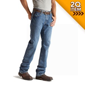 Ariat FR M4 Low Rise Boot Cut Jeans in Flint