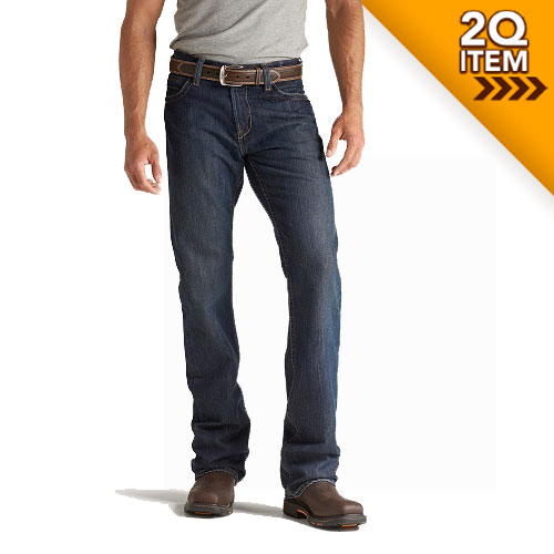 Ariat FR M4 Low Rise Boot Cut Jeans in Shale