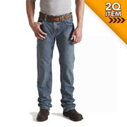 Ariat FR M5 Slim Fit Straight Leg Jeans in Clay