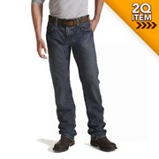 Ariat FR M5 Slim Fit Straight Leg Jeans in Shale