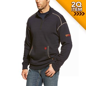 Ariat FR Polartec 1/4 Zip Fleece in Navy