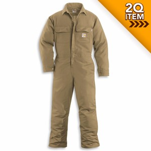 Carhartt FR Coveralls in Khaki