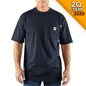 a3b4eb5a66f09 Carhartt FR Force Short Sleeve Shirt in Dark Navy