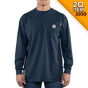 Carhartt FR Force Cotton Long Sleeve Shirt in Dark Navy