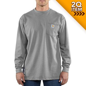 FR Force Cotton Long Sleeve Shirt in Light Gray