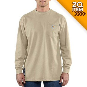 Carhartt FR Force Long Sleeve Shirt in Sand