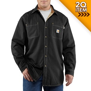 Carhartt FR Canvas Shirt Jac in Black