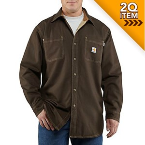 Carhartt FR Canvas Shirt Jacket in Dark Brown