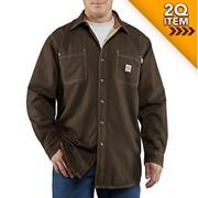 Carhartt FR Canvas Shirt Jacket in Dark Brown