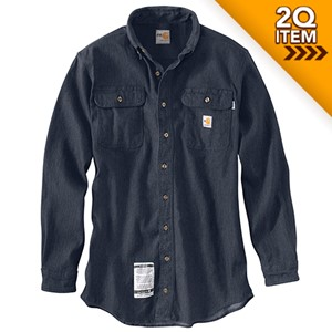 Carhartt FRC Washed Denim Shirt in Midstone