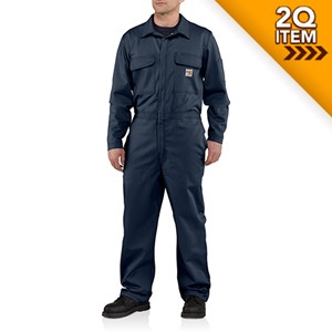 Carhartt Flame Resistant Carhartt Twill Coverall in Navy