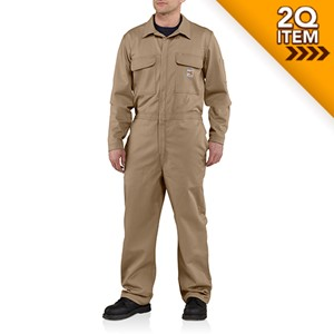 Carhartt Traditional FR Carhartt Twill Coverall in Khaki