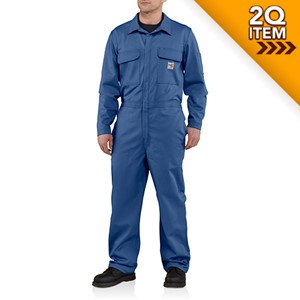 Carhartt Flame Resistant Twill Coverall in Royal Blue