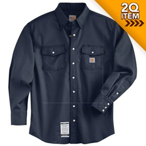 Carhartt FR Snap-Front Shirt in Navy