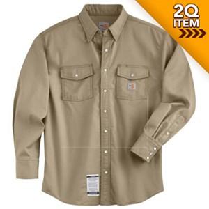 Carhartt FR Snap-Front Shirt in Khaki