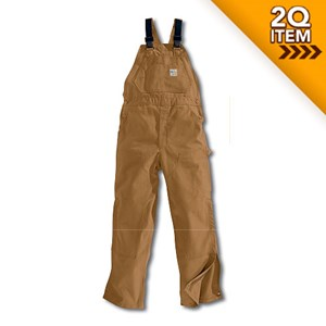 Unlined FR Duck Bib Overall in Carhartt Brown