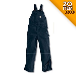 Unlined FR Duck Bib Overall in Navy