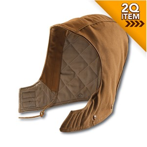 Flame Resistant Quilt-Lined Duck Hood in Carhartt Brown