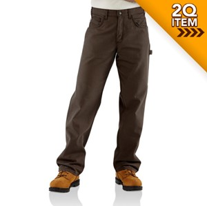 Carhartt Midweight Canvas FR Jean in Dark Brown