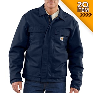 Flame Resistant Jacket with Lanyard Access in Navy Blue