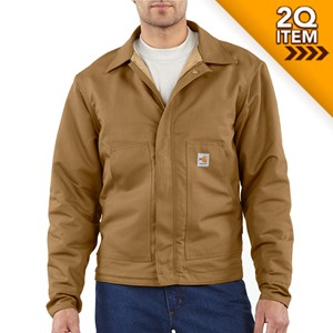 Midweight Quilt-Lined FR Dearborn Jacket in Carhartt Brown