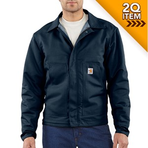 Carhartt Midweight Quilt-Lined FR Dearborn Jacket in Navy Blue
