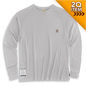 Moisture-Wicking FR Long-Sleeve Tee in Light Gray