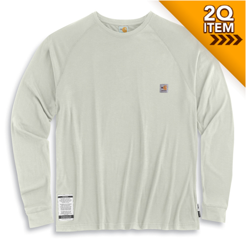 Carhartt work dry long sleeve fr tee in sand for Carhartt work dry t shirt