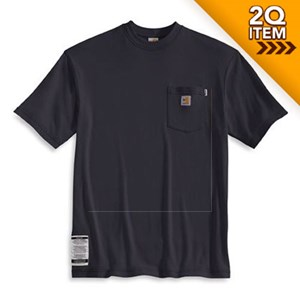 Flame Resistant Short Sleeve T-Shirt in Navy